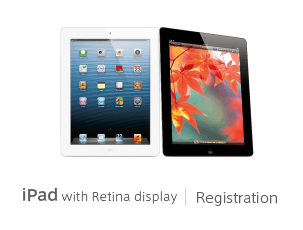 iPad with Retina display Registration