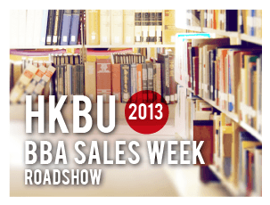 HKBU BBA Sales Week 2013