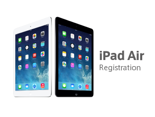iPad Air Registration